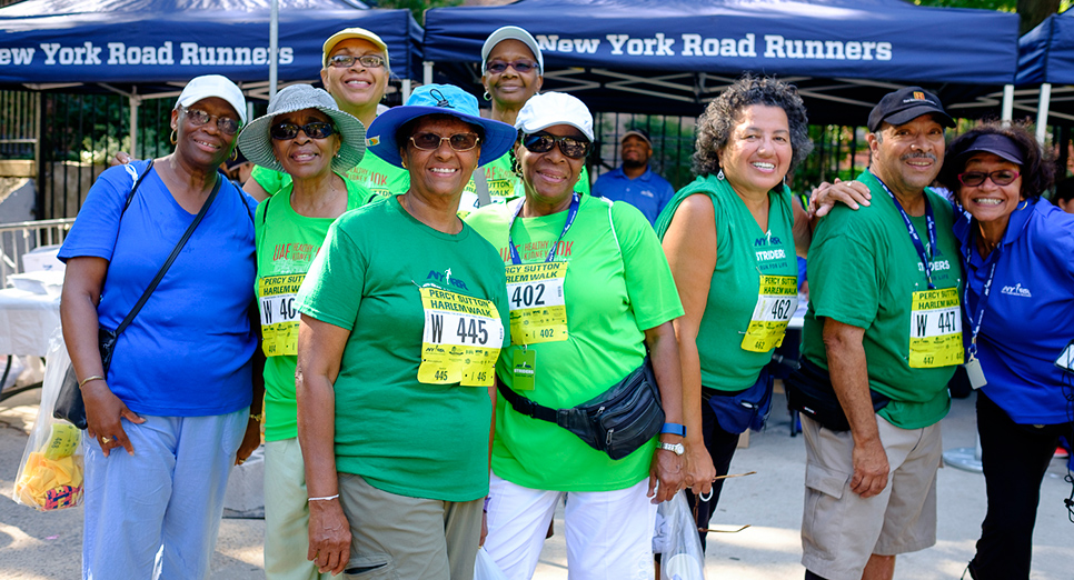 NYRR Striders were all smiles at the 2016 Percy Sutton Harlem Walk.