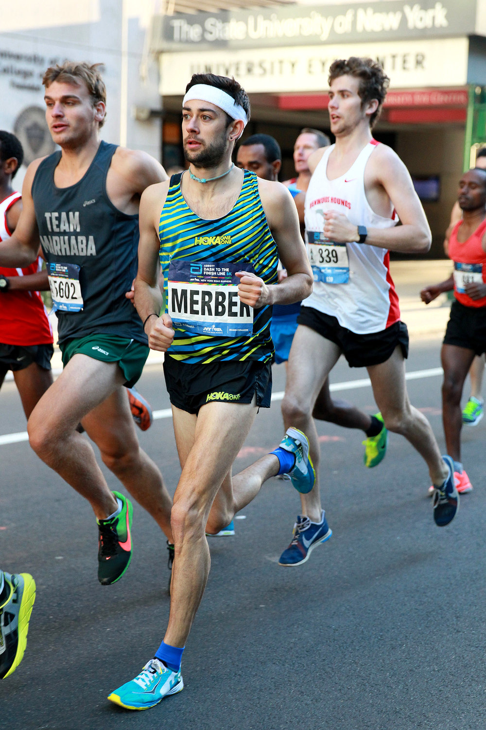 After racing the 2016 New Balance 5th Avenue Mile, Kyle Merber goes on to place third at the 2016 Abbott Dash to the Finish Line 5K.