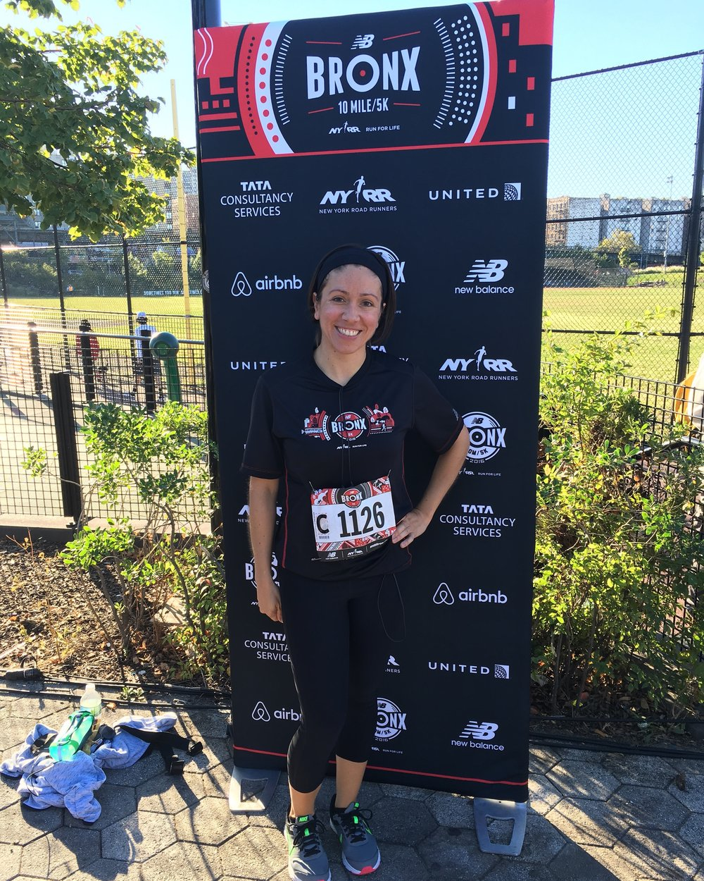 Back for more: Alyssa finished a 5K race at the 2016 New Balance Bronx 10 Mile.