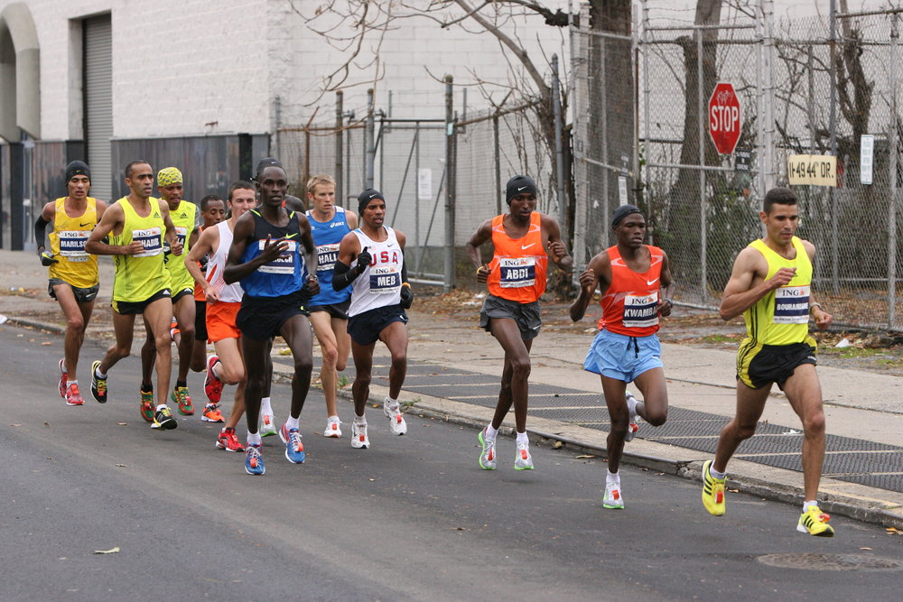 Settled in behind the leaders as the race passed through Long Island City.