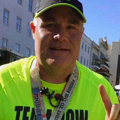 """I want to make a difference with the time I have been given""  - While receiving chemotherapy treatments for multiple myeloma, a type of blood cancer that has no cure, Kurt Dow trained for the 2017 United Airlines NYC Half, which he ran on behalf of the Multiple Myeloma Research Foundation. ""The MMRF's goal is to prolong the lives of patients like me. I want to do all I can in support of that,"" said the 49-year-old from Arlington, TX. ""Some days are better than others, but I will fight until the end."" Read more."