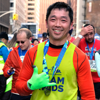 """It gives you a purpose""  -  ""It's awesome that you're running for a personal best, but it's also nice that you've got some kind of purpose to come all the way out here,"" said 51-year-old Paul Chow of Fernie, BC, Canada after running the 2017 United Airlines NYC with NYRR Team for Kids. Read more."