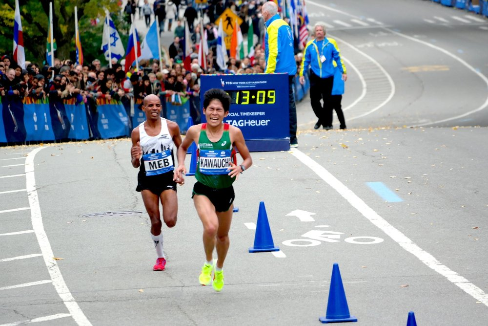 Keflezighi and Kawauchi kick to the finish in Central Park