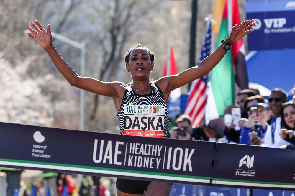 Mamitu Daska - EthiopiaIn April, Daska won the UAE Healthy Kidney 10K; she had placed second in the event in her only previous run there in 2014.She made her TCS New York City Marathon debut in November, finishing third in 2:28:08.