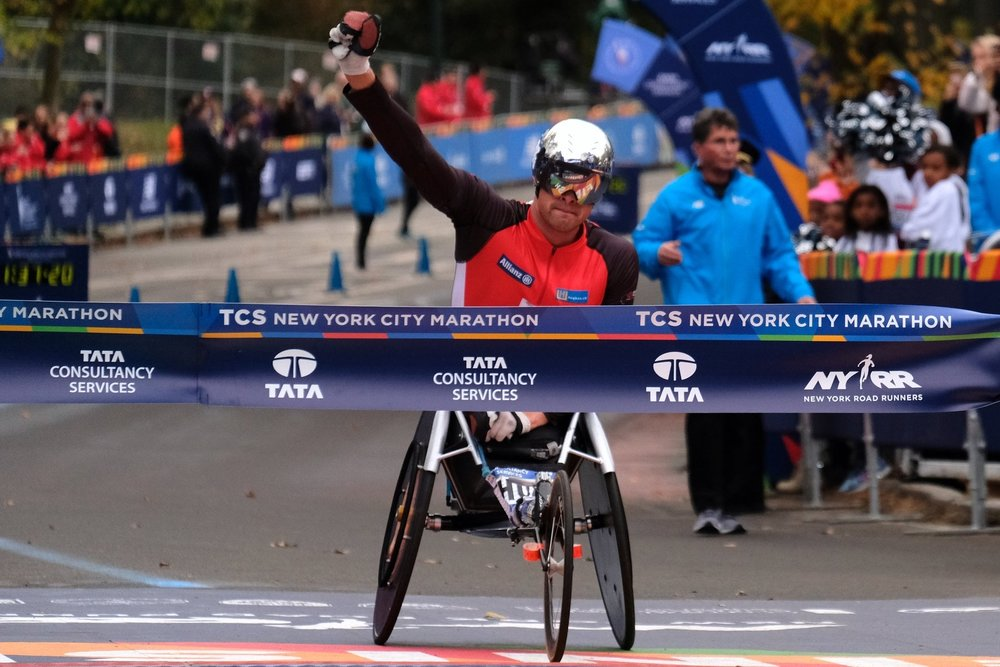 "Marcel Hug - SwitzerlandThe ""Swiss Silver Bullet"" won his second consecutive and third overall TCS New York City Marathon title in the men's wheelchair division."