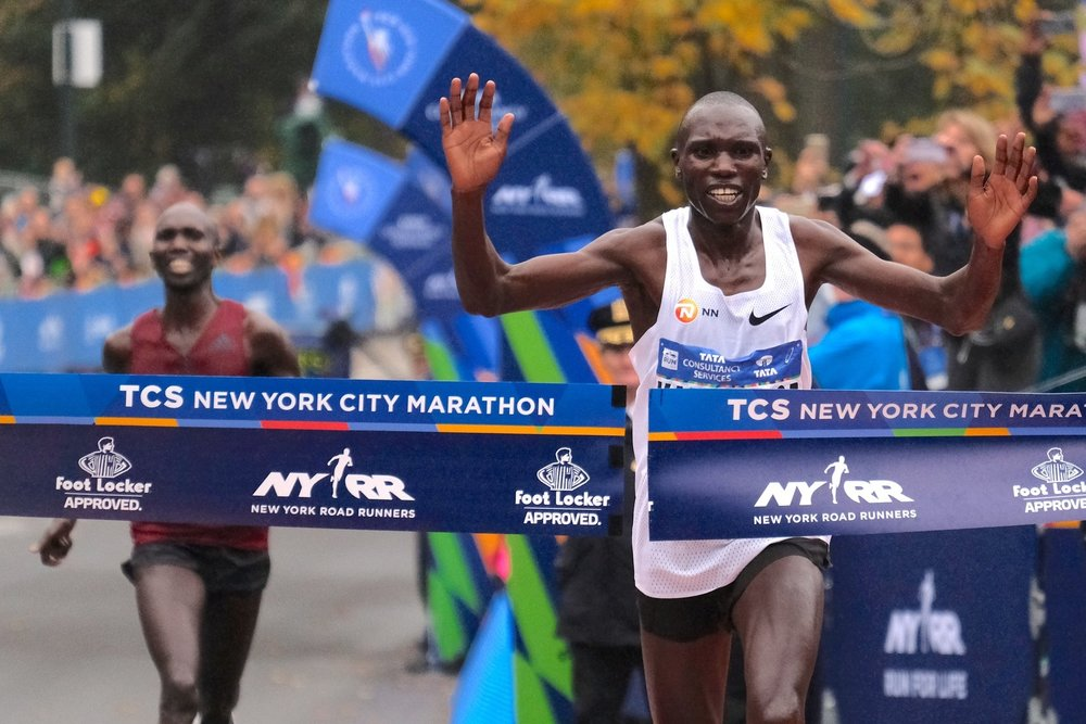 Geoffrey Kamworor - KenyaHe claimed the first major marathon victory of his career, winning the men's open division at the TCS New York City Marathon over the 2014 champion and his compatriot Wilson Kipsang.
