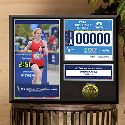 MarathonFoto Special Offer - Save 25% on the Big Apple Plaque with our Cyber Monday Special. Use code BIGAPPLE25when you check out.