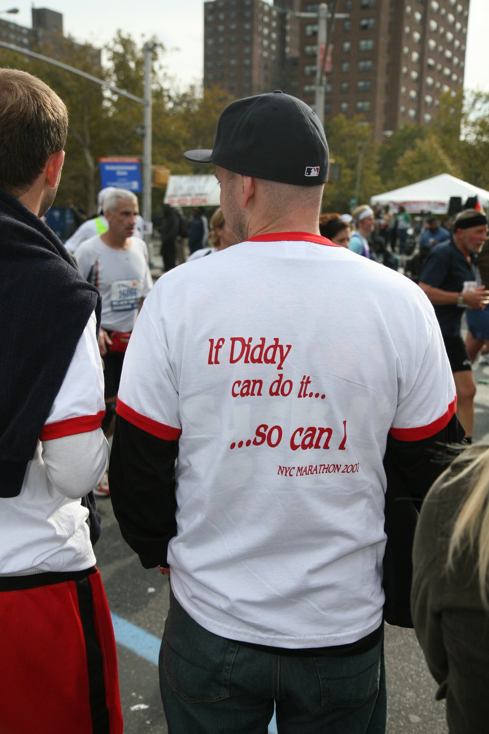 "2007:  Sean Combs ran the New York City Marathon in 2003, when he was known as P. Diddy. He later shortened to just ""Diddy,"" but by the time this shirt made an appearance in 2007, he was back to P. Diddy. Life comes at you fast."