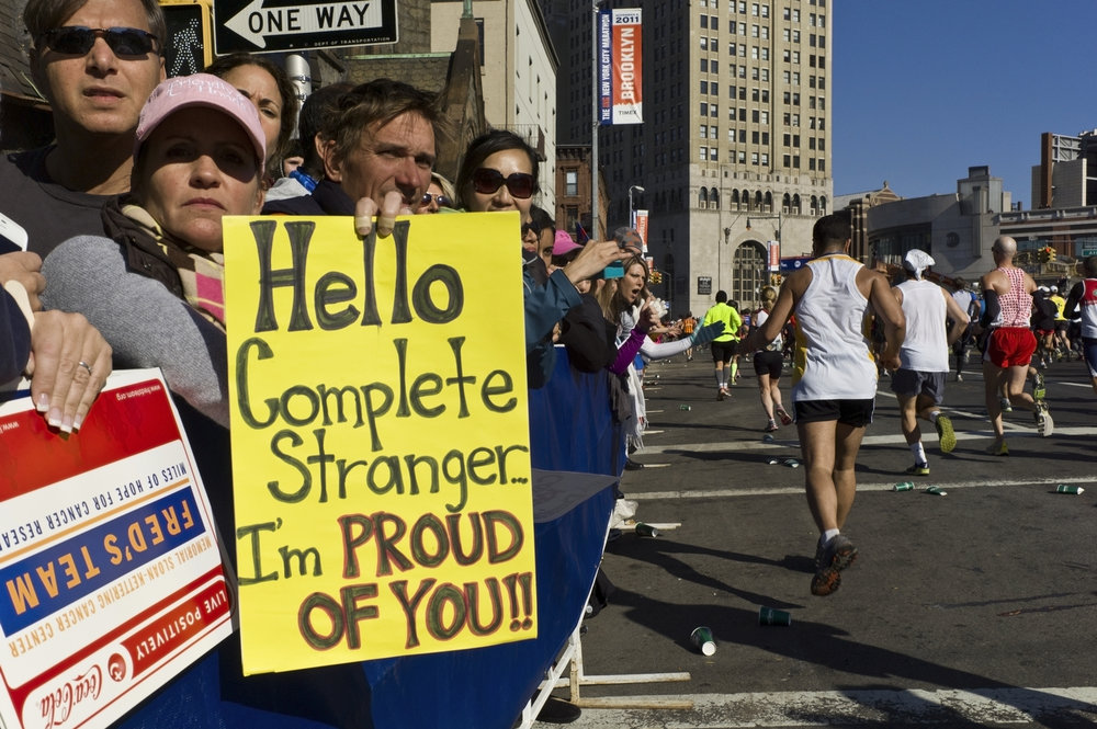 2011:  See? New Yorkers can and will cheer for anyone and everyone.
