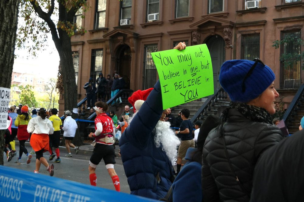 2014:  Santa Claus flew down to New York seven weeks early to give runners this gift.