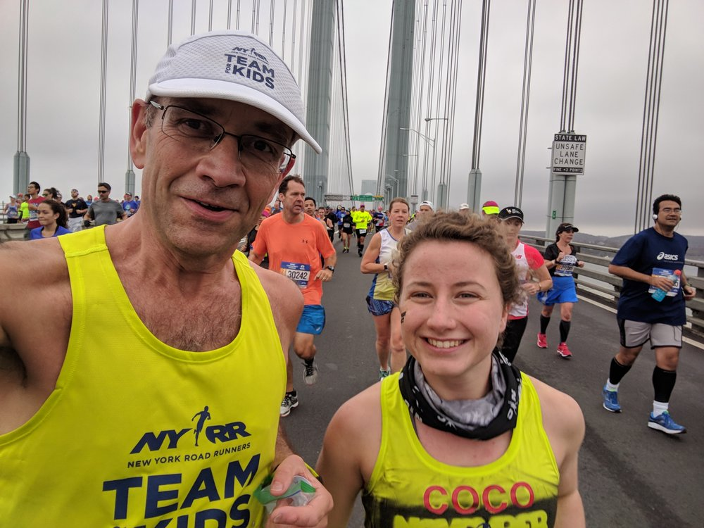 Coco and her dad, Wolfie, take on the 2017 TCS New York City Marathon.