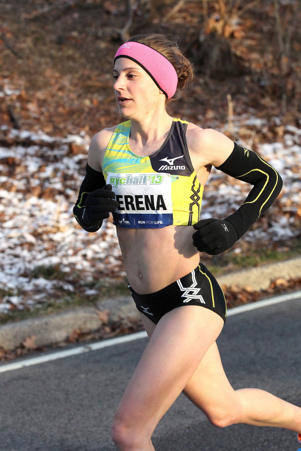 Serena Burla in her last run at the NYC Half, in 2013, when she placed 12th.