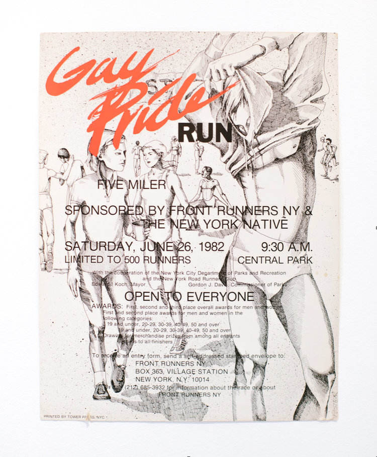 Logo and poster designed by FRNY member Sue Foster, who was also the first woman to cross the finish line of the five-mile race in 31:49.