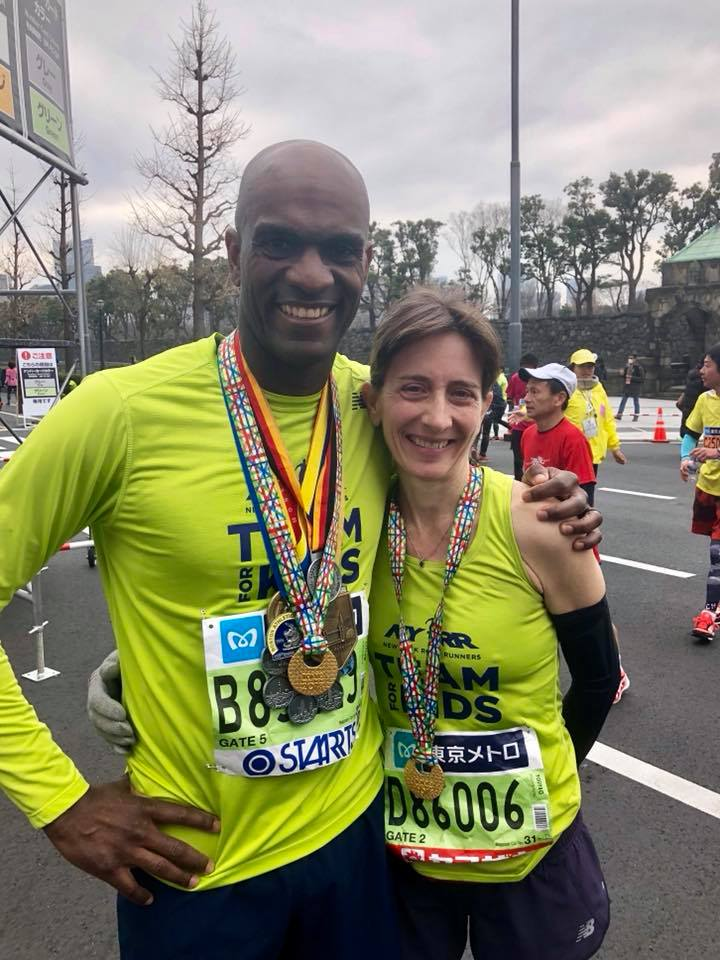 Pratt finished the 2018 Tokyo Marathon alongside her colleague Michael Rodgers, NYRRs vice president of youth & community runner engagement.