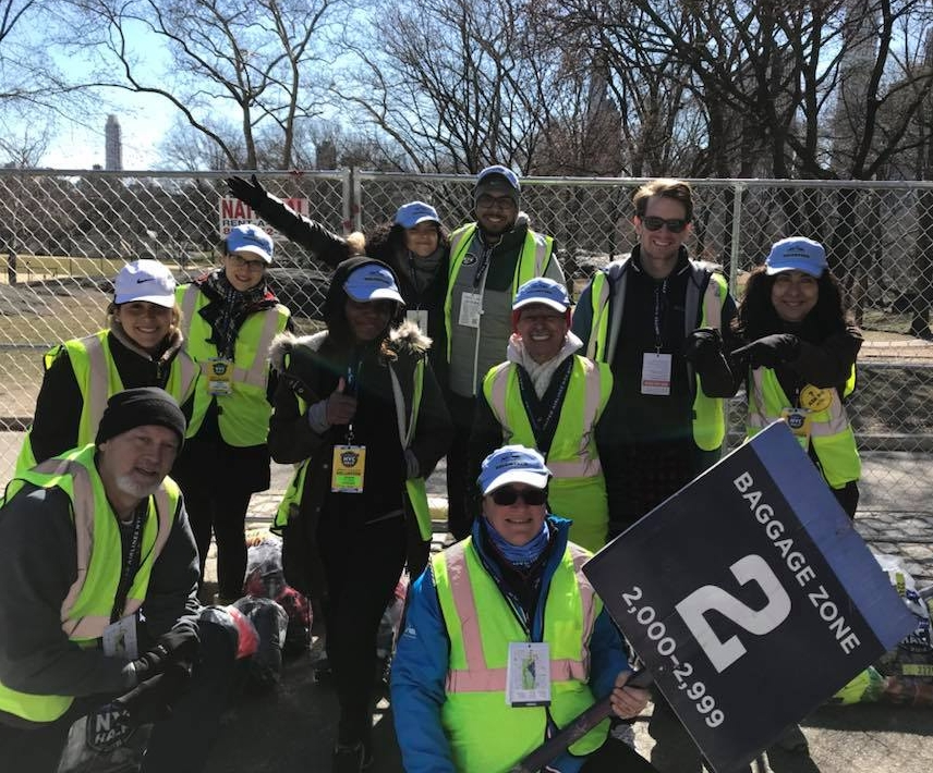Vivian Mitropoulou (far right) was a volunteer at the 2018 United Airlines NYC Half.