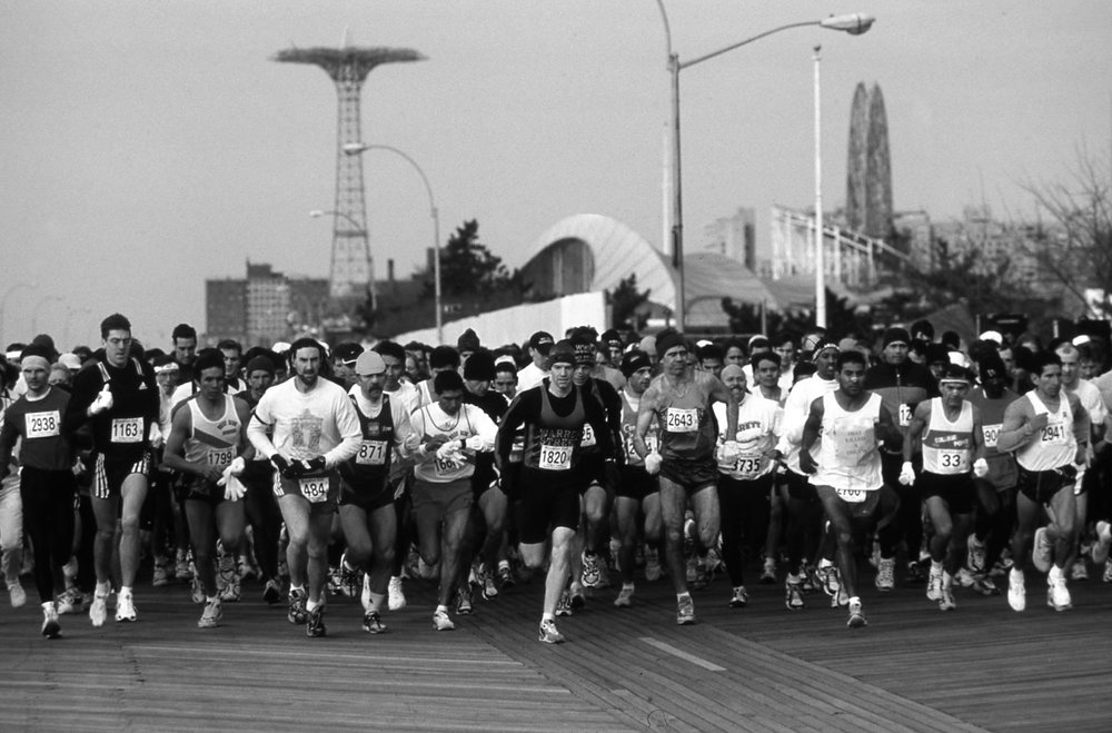 From 1996 to 2008 the Brooklyn Half started on the Coney Island boardwalk....