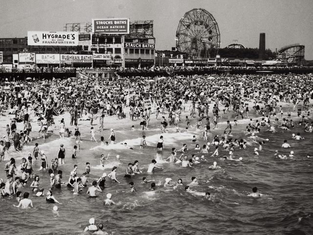 Coney Island in the 1940s.