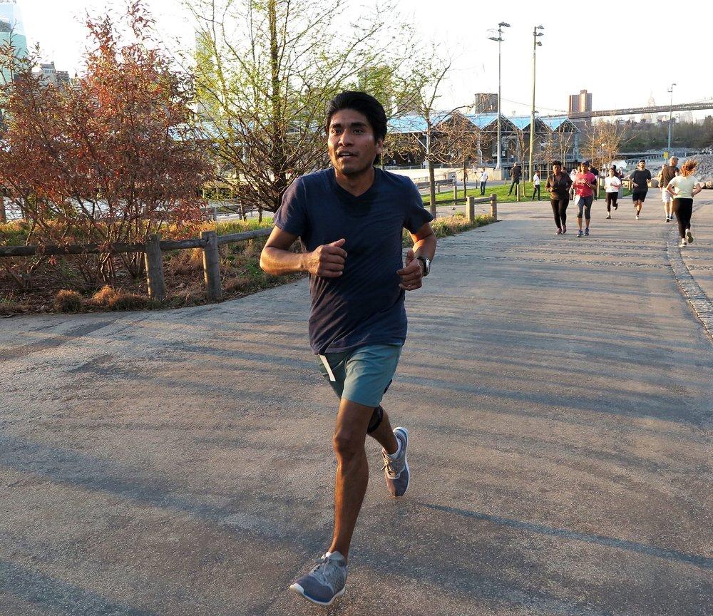 Despite having arthritis, Sergio Torres runs races from 5K to the marathon.