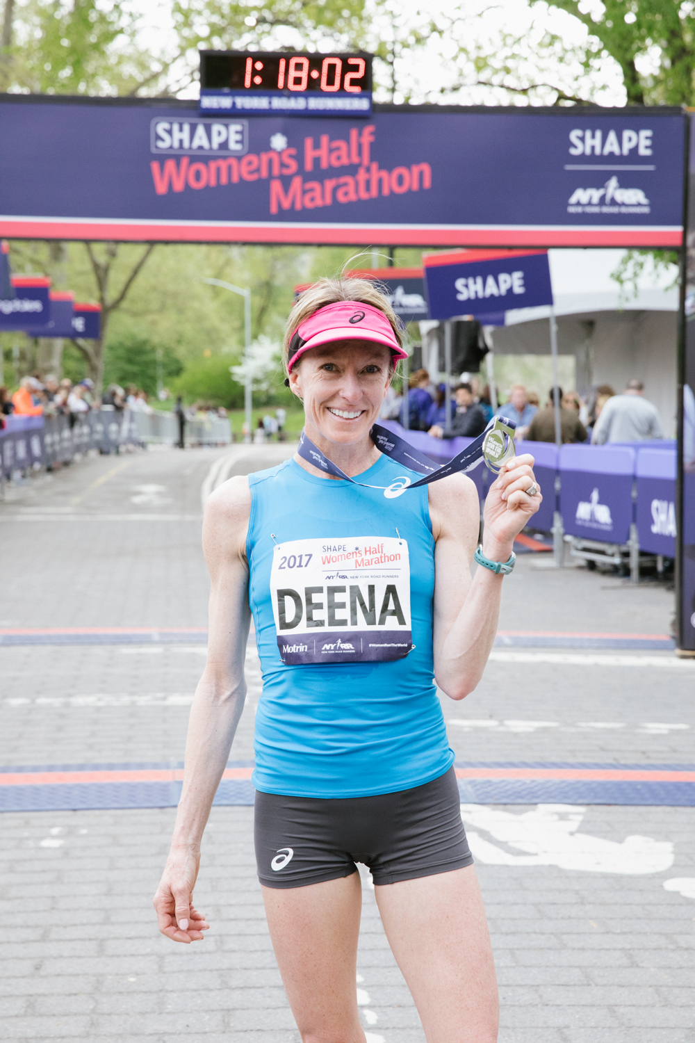 Deena Kastor finished first at the 2017 Shape Women's Half Marathon. This spring, she'll race 13.1 in a new borough.