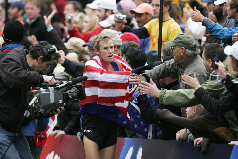 Ryan Hall runs a 2:09:02 to win the U.S. Olympic Trials Men's Marathon in 2007.