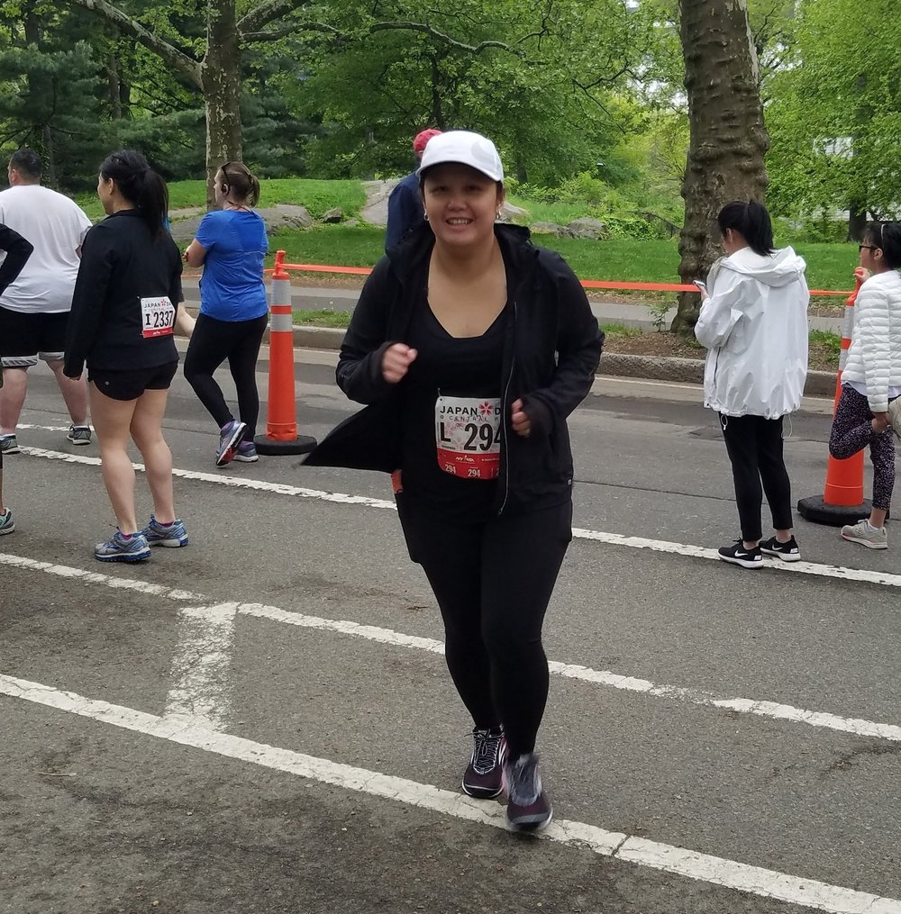 Maybelle tuned up for the NYRR New York Mini 10K by running the Japan Run 4M on May 13.