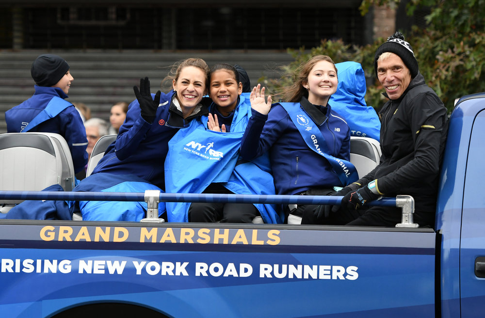 Five Rising New York Road Runners Youth Ambassadors served as Grand Marshals at the 2017 TCS New York City Marathon.