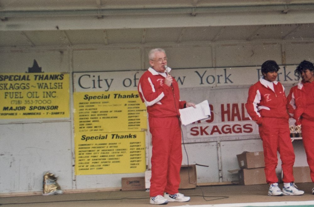 Longtime Queens Half Marathon organizer Leo Nicholas had deep roots in the College Point running community, and the event grew in popularity each year.