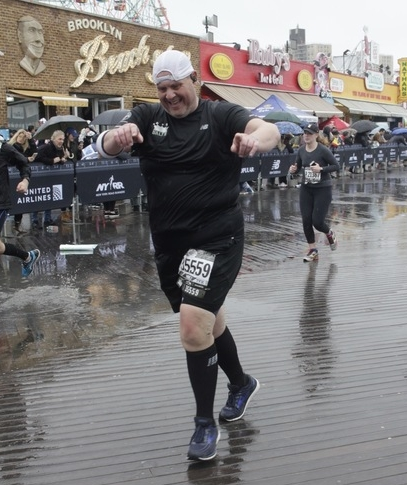 Walsh completed the Popular Brooklyn Half in May…