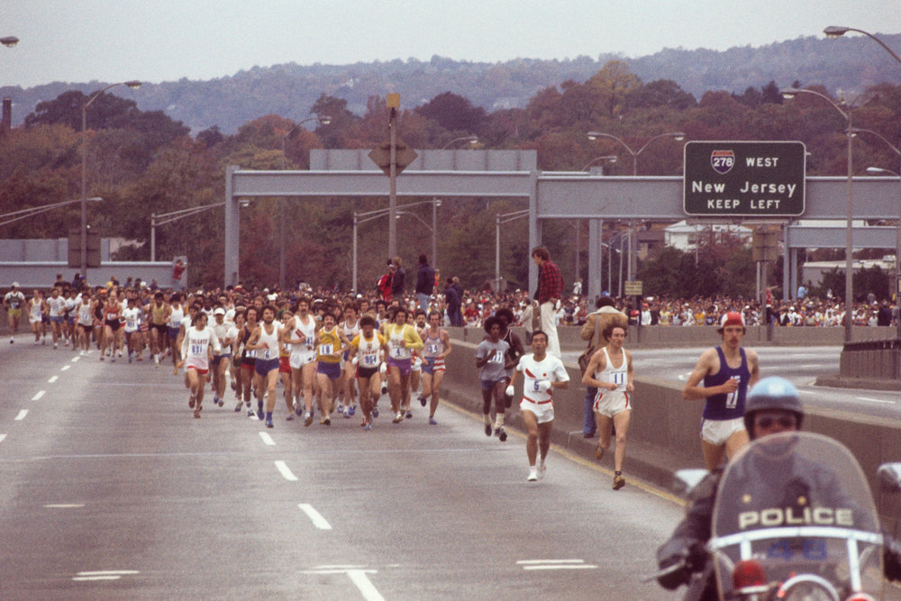 Since 1976, the New York City Marathon has started on the Staten Island side of the Verrazzano-Narrows Bridge.