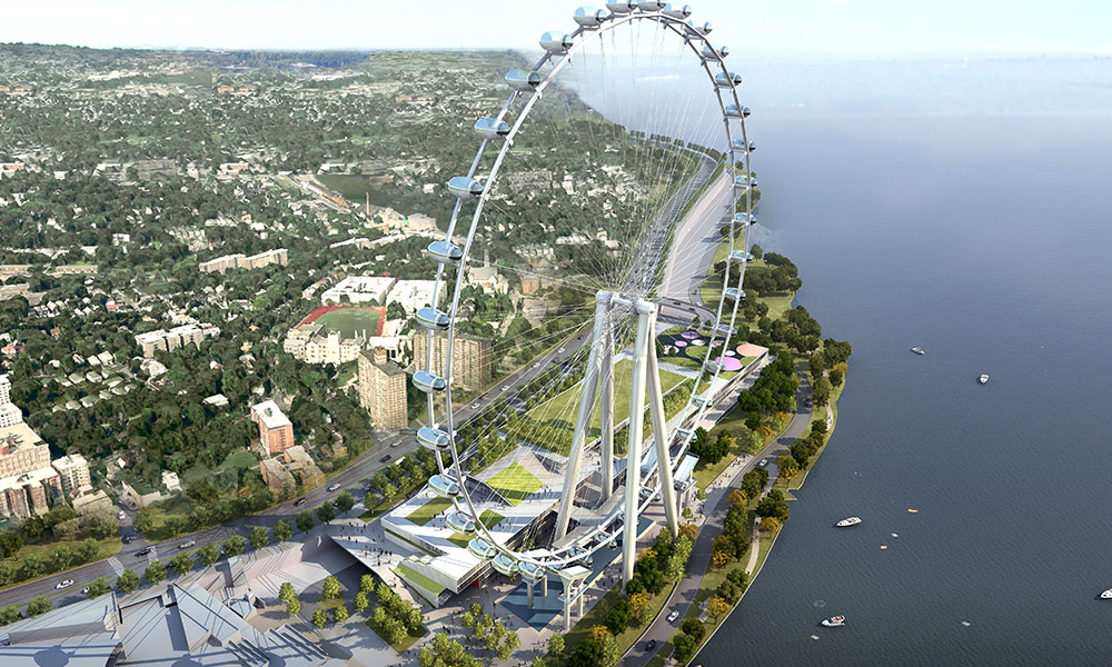 Construction on the New York Wheel (shown here as a rendering) has required some tweaks to the Staten Island Half course.