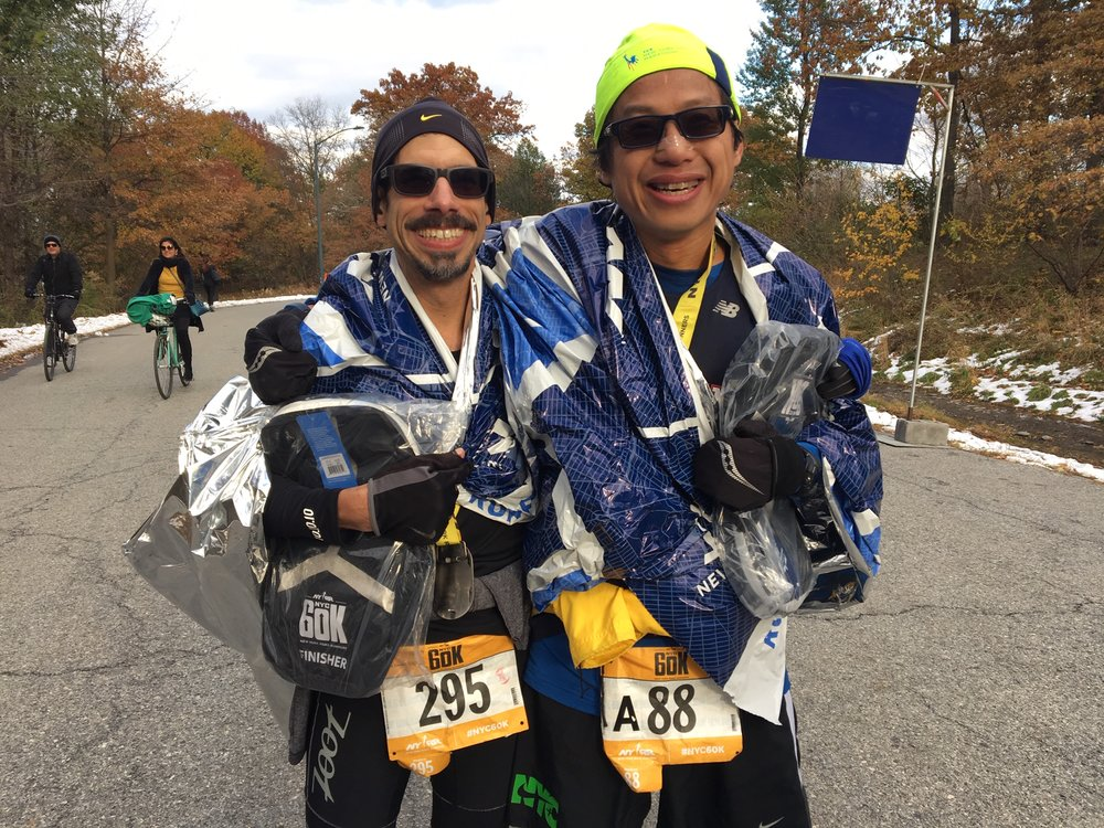 Edgar Barbosa and Kwok-Ming Cheng, friends and fellow-finishers.