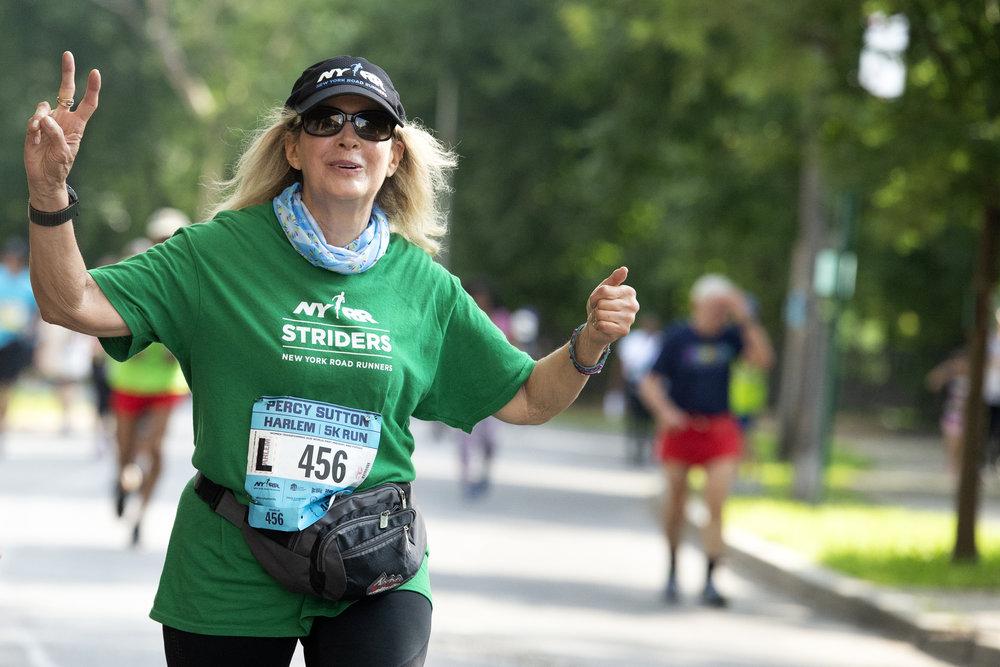 Susan Schwartz is racing her way through her 70s with NYRR Striders.