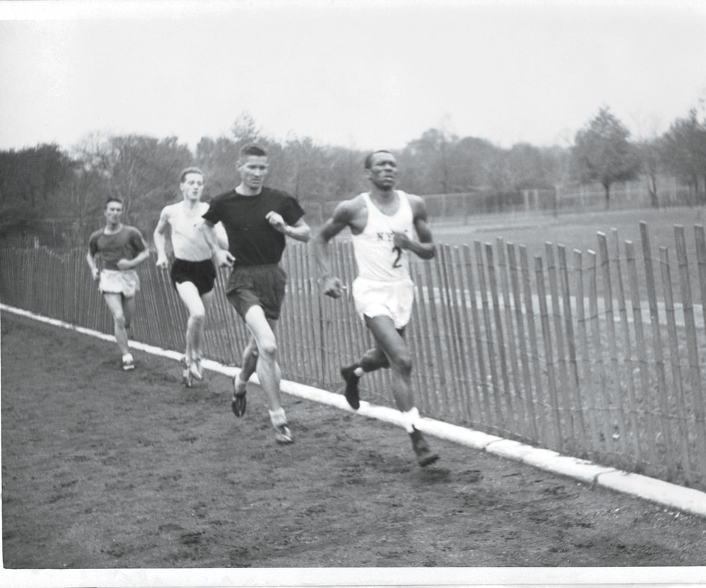 Ted Corbitt competing as a member of the New York Pioneer Club in the 1950s.
