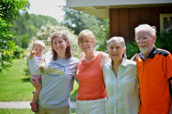 Right to Left: My niece, sister, mom, Rowena & Keith Rodgers
