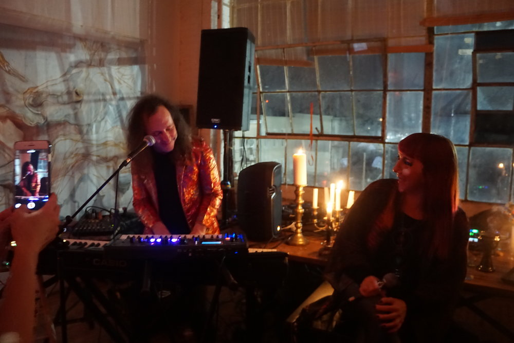 Artist Sky White Tiger & Natalia Clavier  Performing at The Standing Rock Fundraiser- Image Courtesy of Love Medicine