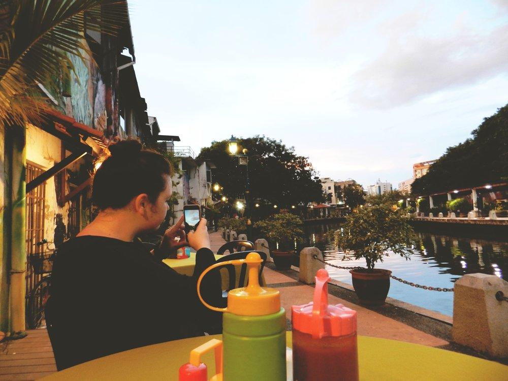 Waiting for Nasi Lemak - Melaka Riverfront