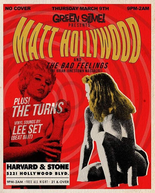 Check out our show at Harvard and stone with Matt Hollywood (BJM) and the bad feelings on Thursday, 3/9.