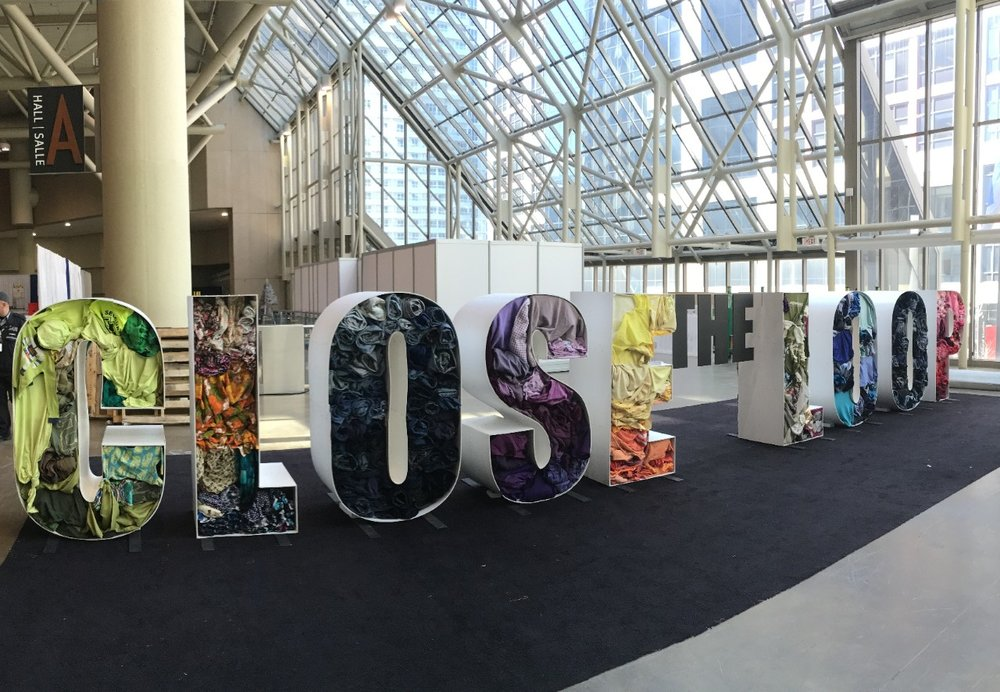 Close the Loop art installation featured at the 2016 Green Living Show in Toronto.