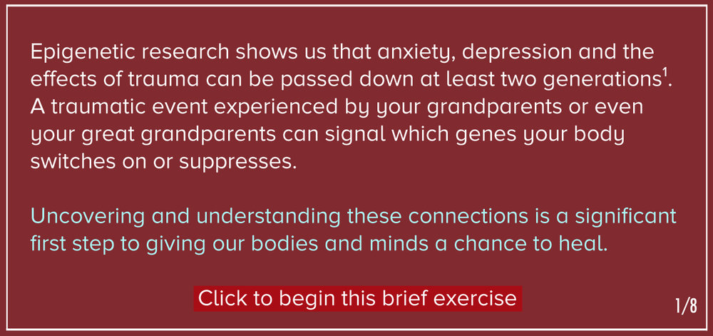 Can We Really Inherit Trauma >> Exercise Are You Experiencing The Effects Of Inherited Trauma
