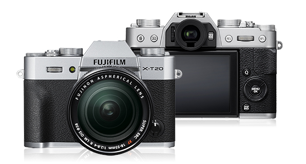 Fuji X-T20. Awesome looks, poor handling.