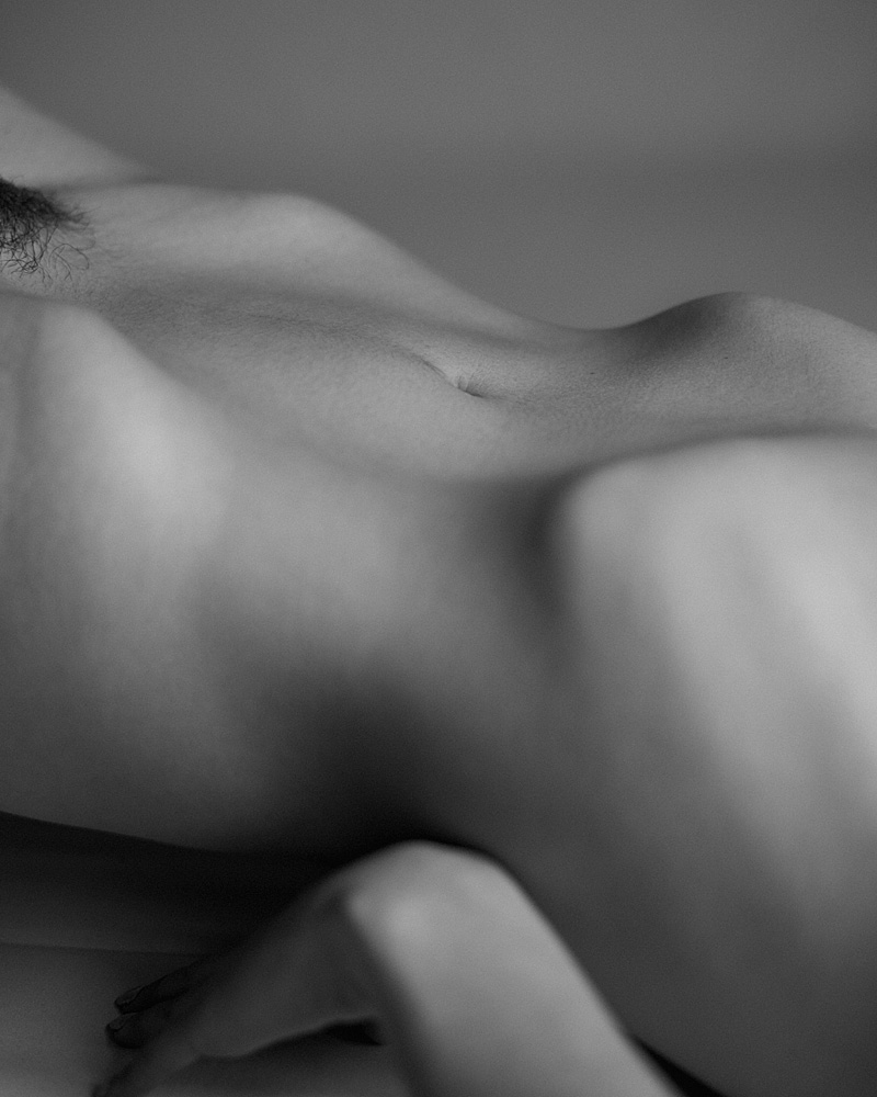 Black-and-white nude of one of my favorite models, Maya Tihtiyas.