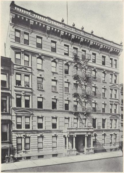 The Lansdown, 352-356 West 46th Street. New York Public Library's Irma and Paul Milstein Division of United States History, Local History and Genealogy.