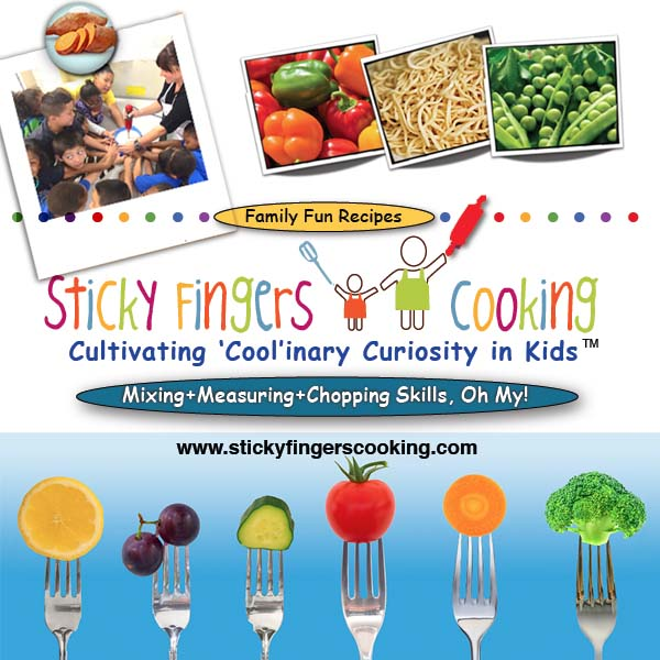 Sticky Fingers Cooking - When's the last time you had Ethiopian food? Or yummy Thai, Columbian, Indian or Greek food? Guess what? Your young chef can have a blast every class discovering how easy and fun it is to cook (and gobble-up!) tasty, healthy, American classic and globally-inspired Sticky Fingers Cooking recipes!