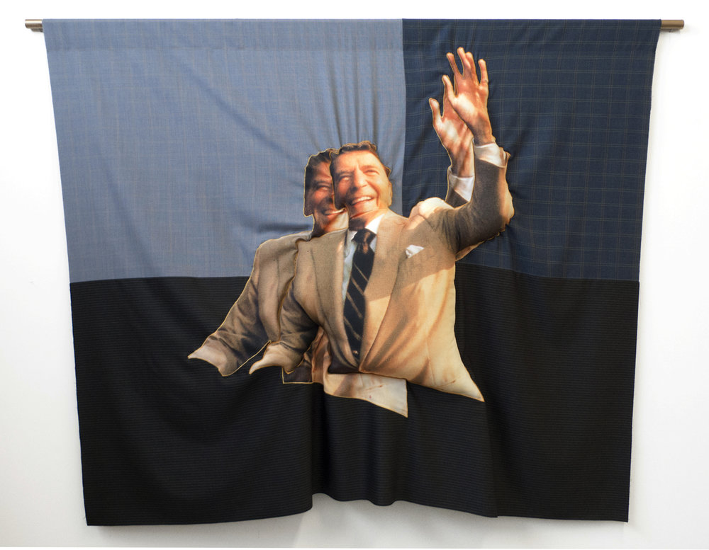 DoubleDouble RR, 2015; wool and polyester; 87 x 66 in.