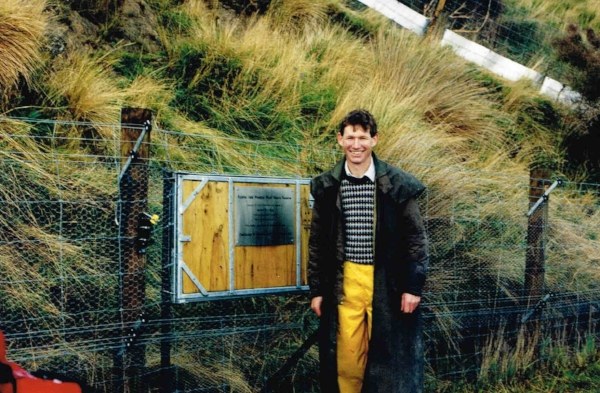 Roger and his predator proof fence