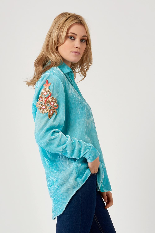 At Last London Silk Velvet Shirt