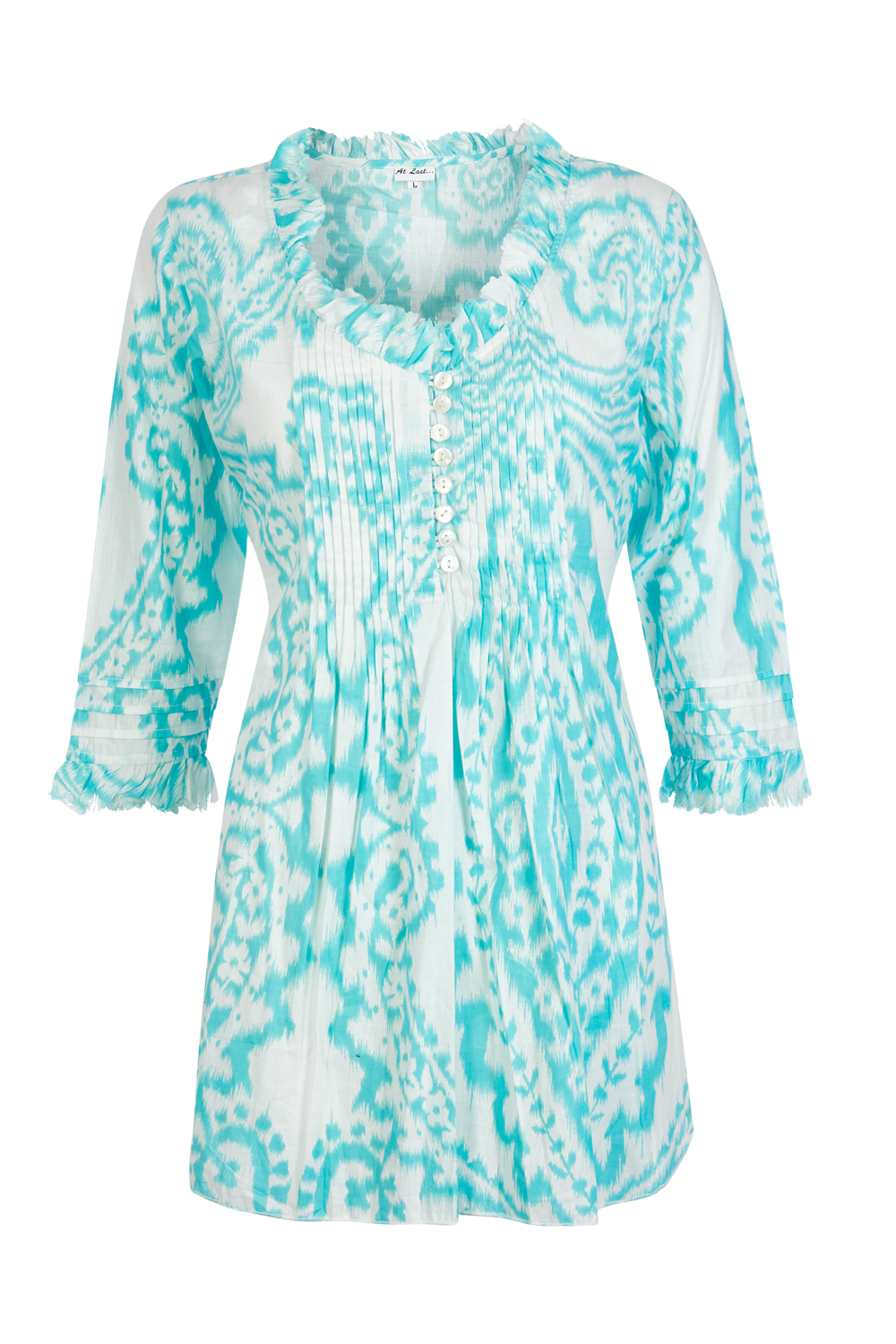 At Last Sophie - Turquoise Ikat