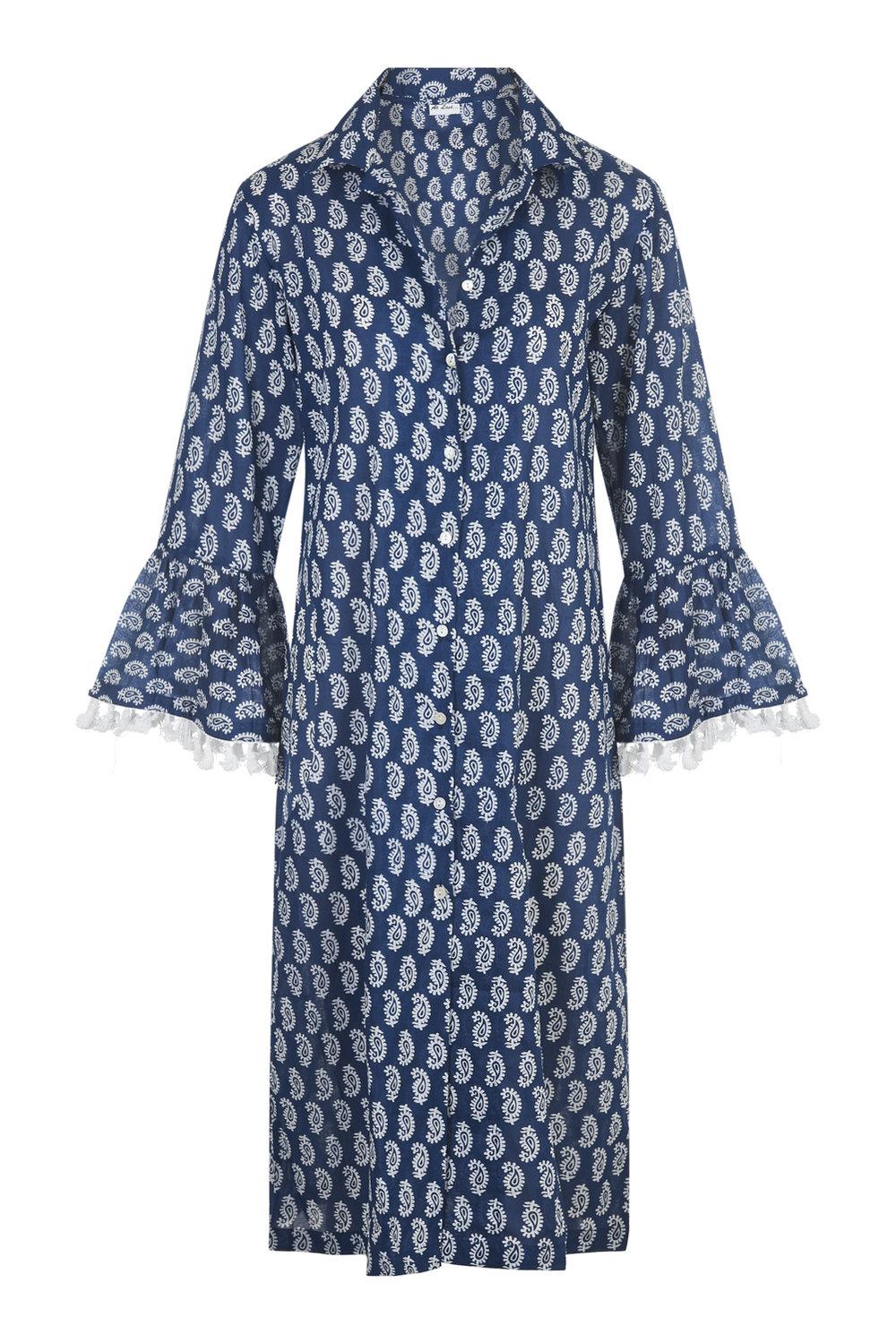 At Last Maxi Coat - Blue Provençal