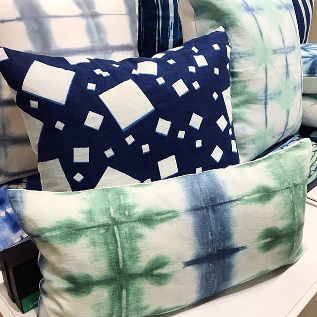 Stop by the Mill Collective @plantseven where I'm showing my handmade shibori,  cyanotype print pillows and original printed fabric collection High Point Furniture market!💙 . . . . . . . . . . #ericagimsondesign #millcollective #plantseven #hpmkt2019 #custom #textiles #fabric #surfacepatterndesigner #shibori #printandpattern #myeclecticmix #homedecor #blueandwhitedecor #design