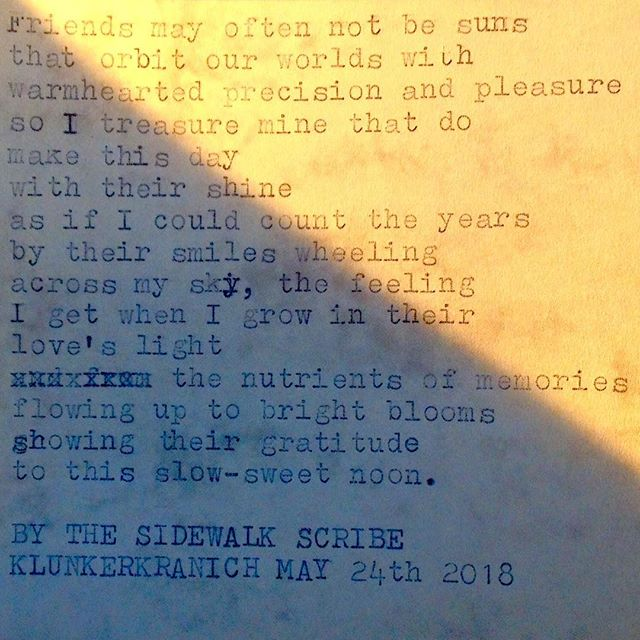 Years circling by. Tag a sweet friend who needs to hear this! #birthday #friends #bestfriends #birthdaypoem #sun #noon #iloveyou #celebrating #anniversary #poetsofig #streetwriters #klunkerkranich #berlin #poetforhire #poemstogo #typewriter #typist #typewriterpoetry #streetwriting #streetwriters #friendship #aginggracefully #aging #bdaybash
